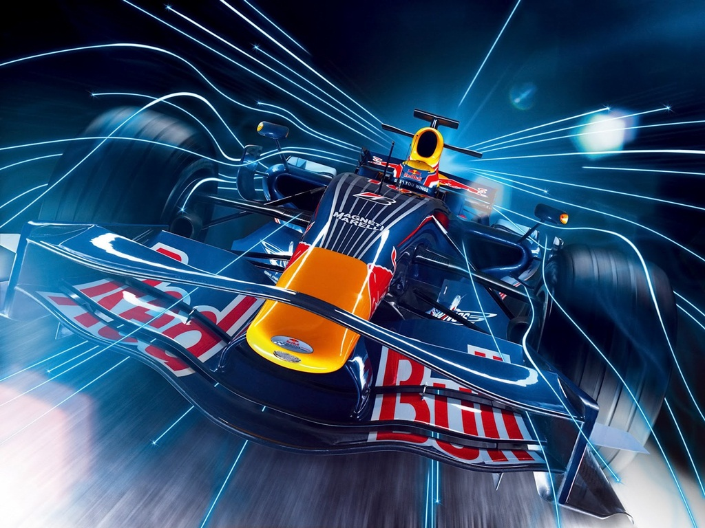3D F1 Race Car Wallpaper