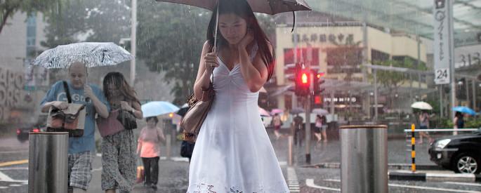Beautiful Girl Rain Photography
