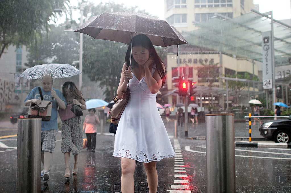 Beautiful Girl Rain Photography