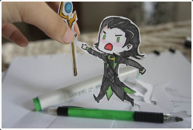 Beautiful and Happy Examples of Papercraft (23)