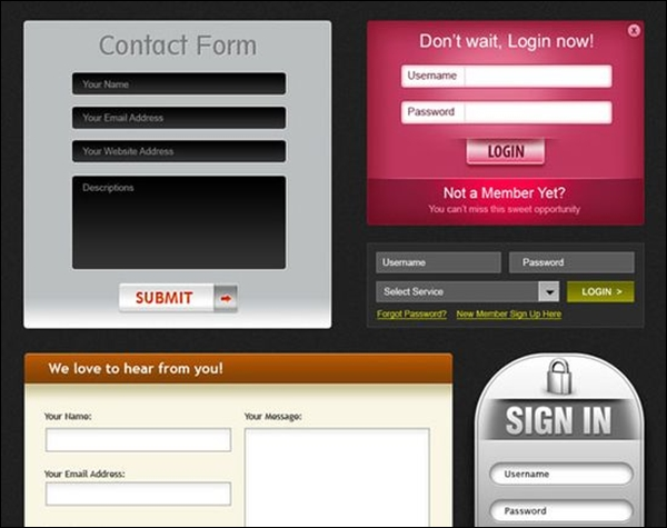 Beautiful web forms for free download