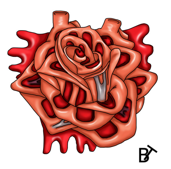 Heart Rose Tattoo Design