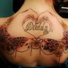 Heart hands tattoo Design