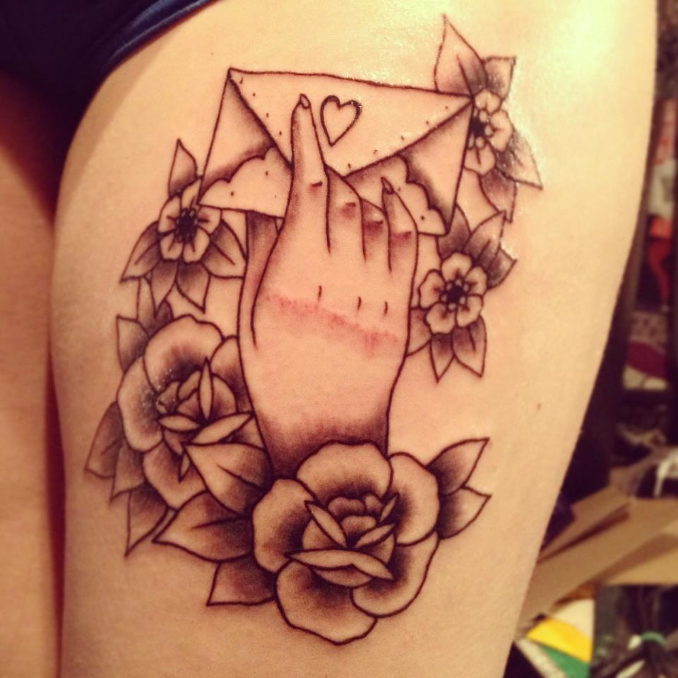 Love Letter Tattoo Design