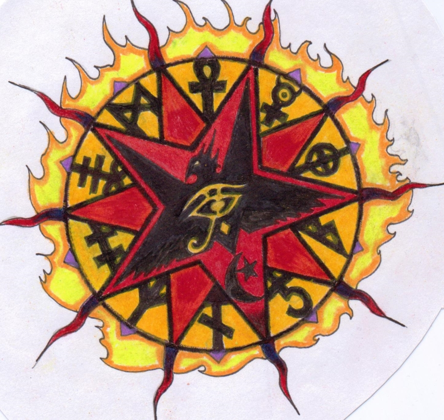 Lucifer's Star Tattoo Design