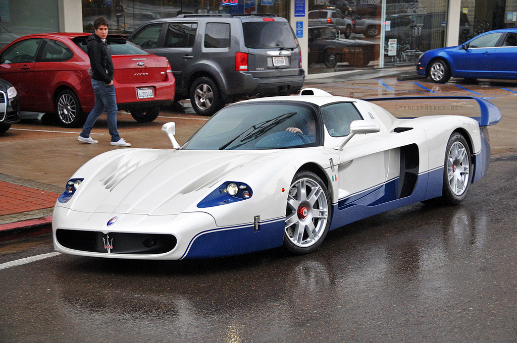MC12 car in the rain