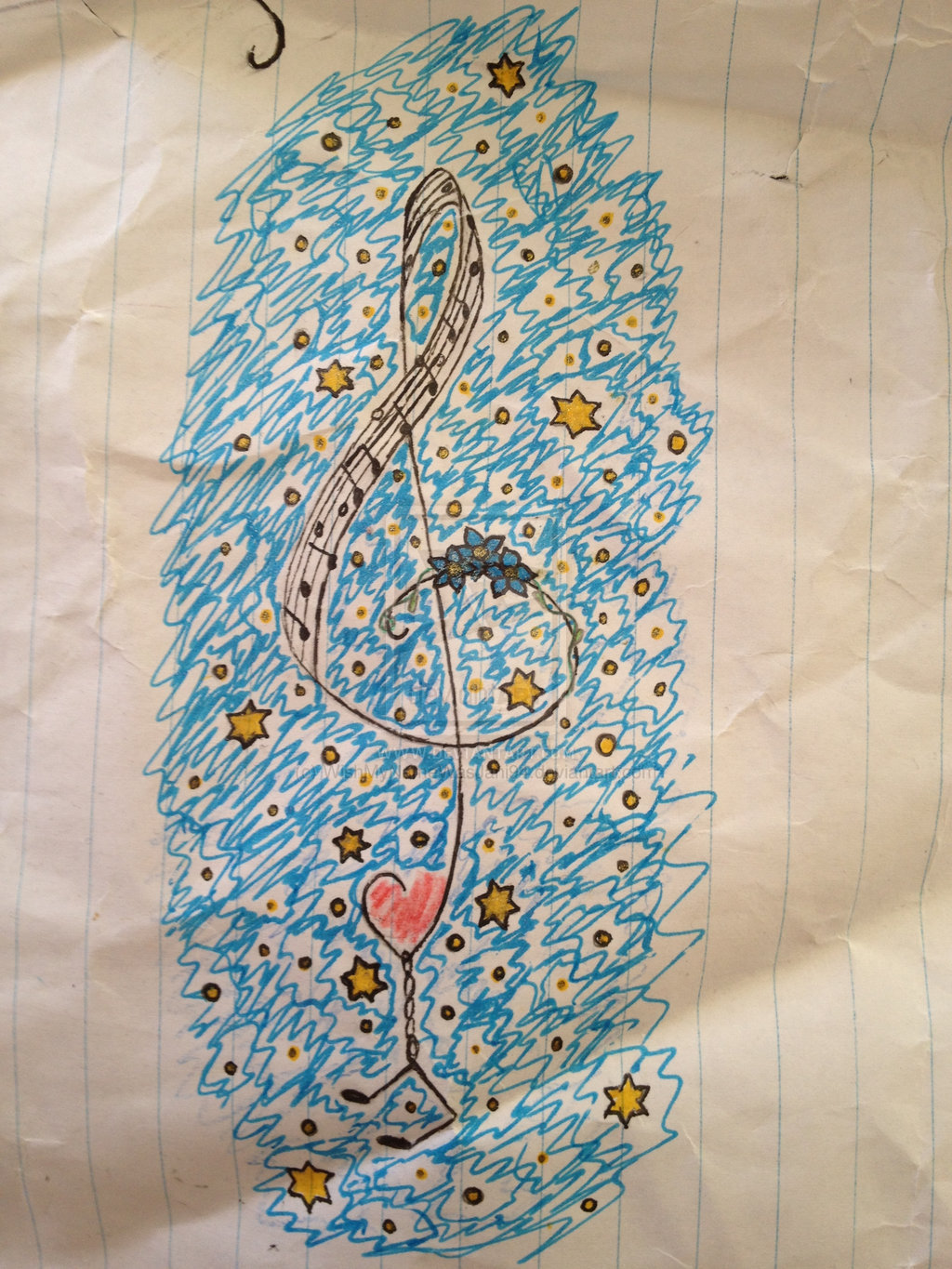 Music tattoo design
