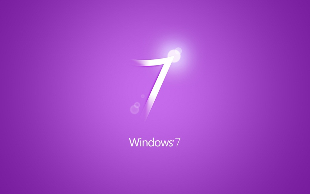 Purple Window 7 wallpaper
