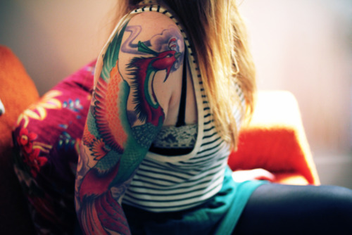 phoenix Tattoos For Girls10