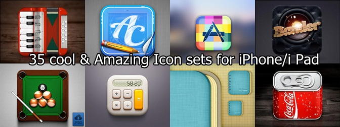 35 cool & Amazing Icon sets for iPhone