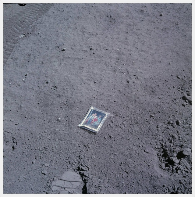 A vac sealed sachet of one of the astronauts children during Apollo 11