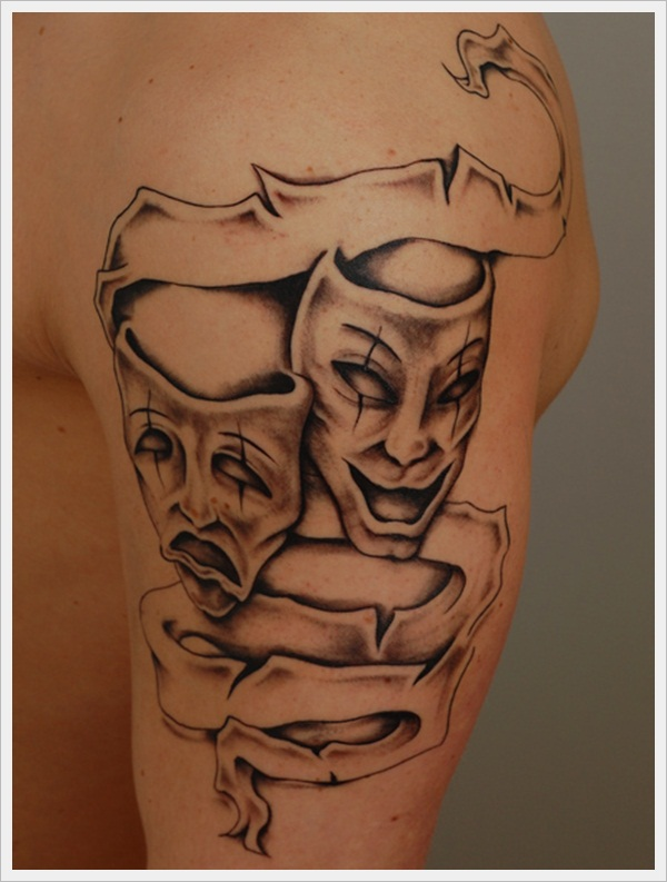 Drama and Comedy Tattoo