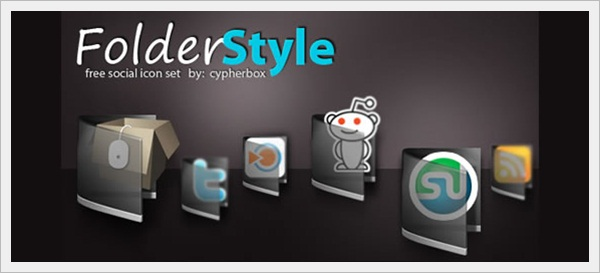 Folder Style Icon Set