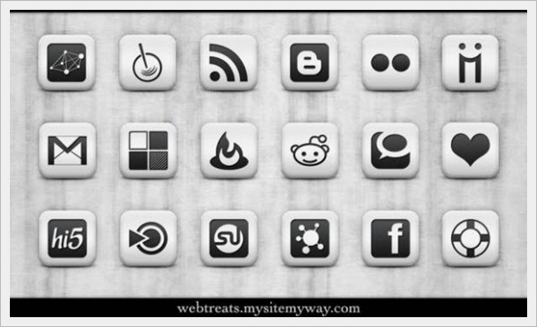 Matte White Icon Set