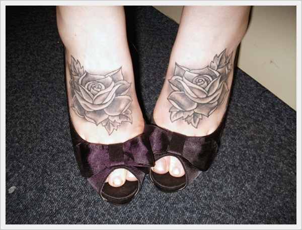 Rose Tattoo Feet