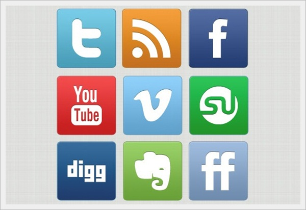 Slick But Clean Free Social Media Icon Set