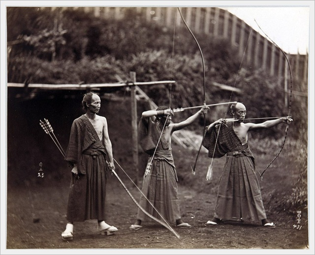 Three Archers, Japan (ca. 1870-1880)