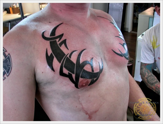 Tirbal Chest Tattoo 2