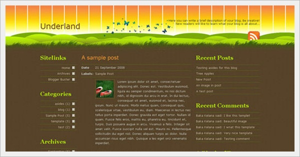 Underland Template for Blogger
