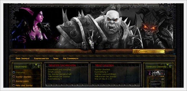 World of Warcraft Flash Joomla Template