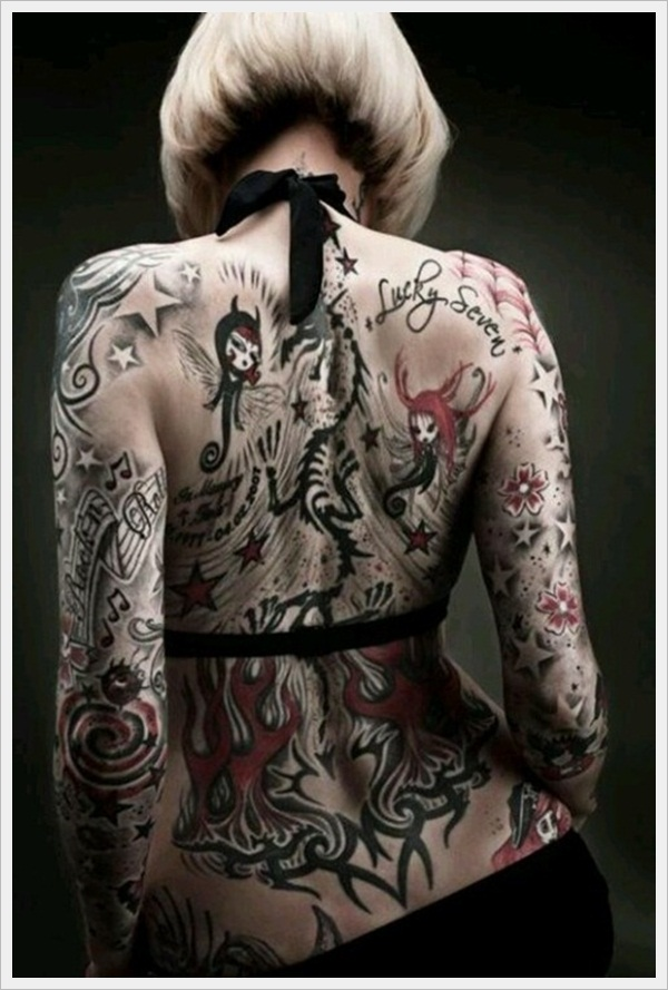 back tattoos for girls 5