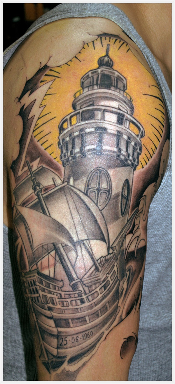 lighthouse and boat WIP