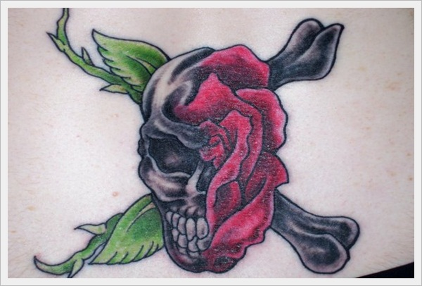 skull and rose tattoo