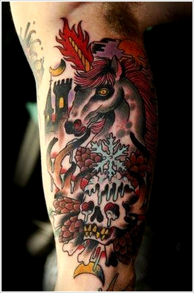 unicorn tattoo designs (27)