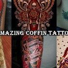 30 Most Amazing coffin tattoo designs