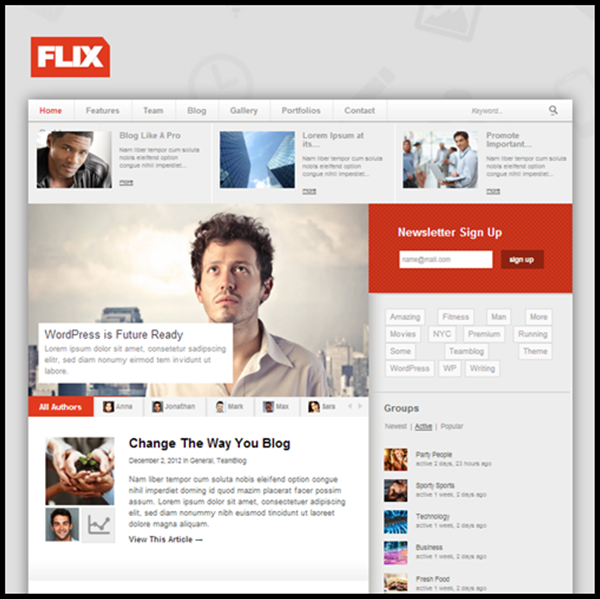 Flix BuddyPress Ready Team Blogging