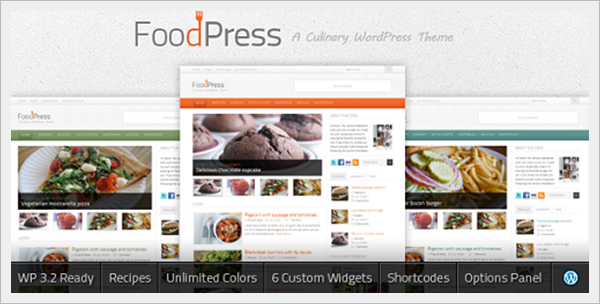 FoodPress A Recipe & Food Blog WordPress Theme