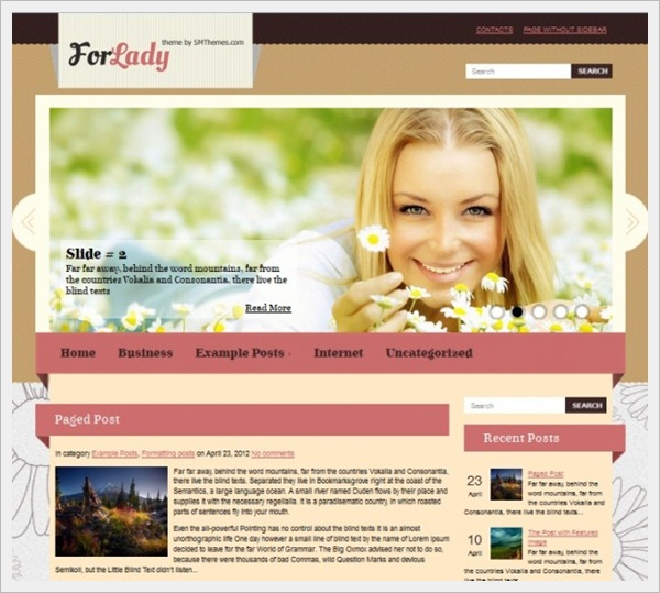 ForLady WordPress Theme