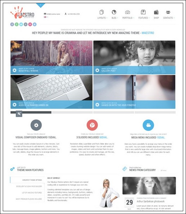 Maestro Business Instrument Template