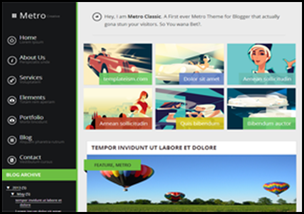 Latest Free Blogger Template In - Timeline blogger template