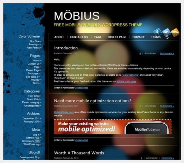 Mobius Mobile Friendly WordPress Theme