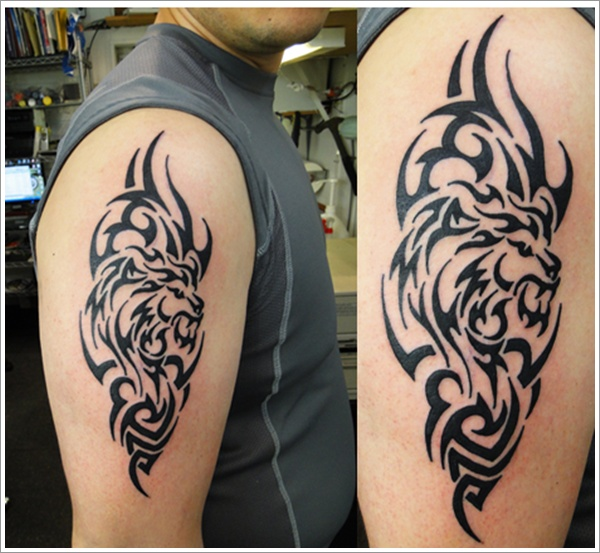 Tribal Loin Tattoo Design (23)