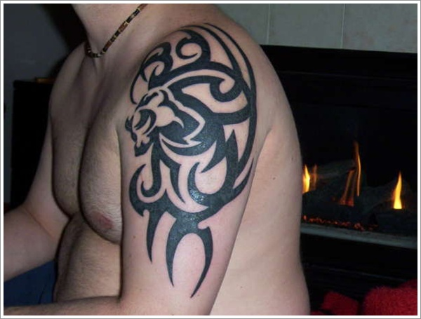 Tribal Loin Tattoo Design (27)
