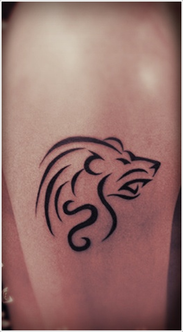 Tribal Loin Tattoo Design