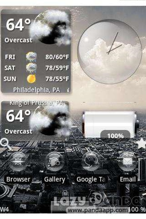 Widget weather