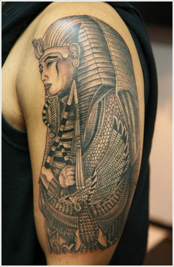 half face tattoo