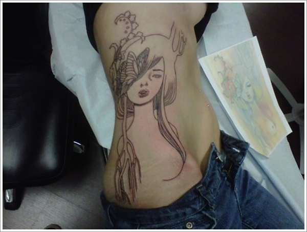 stomach Tattoo Designs (2)