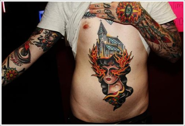 stomach Tattoo Designs (25)