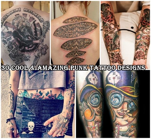 30 cool amazing punk tattoo designs. Black Bedroom Furniture Sets. Home Design Ideas