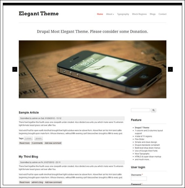 Elegant Theme by saran.quardz