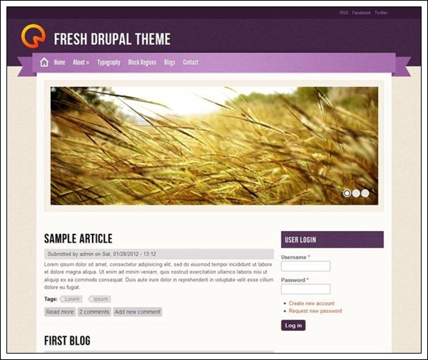 Fresh Theme by saran.quardz