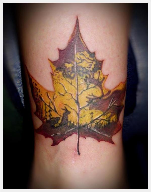 30 Cool Leaf Tattoo Designs