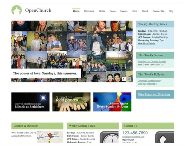 OpenChurch Theme