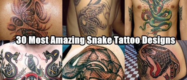 30 Most Amazing Snake Tattoo Designs