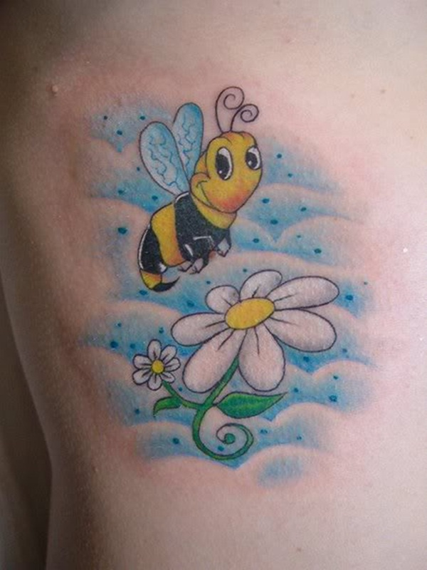 Bee tattoo designs (2)