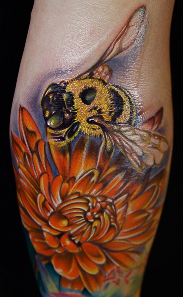 Bee tattoo designs (20)